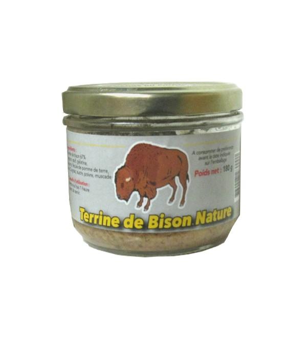 Terrine de Bison nature
